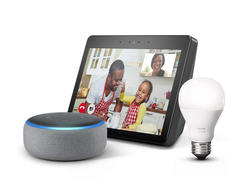 Combine the Echo Show, an Echo Dot, and a Philips Hue smart bulb for $159