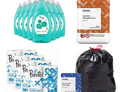 Prime members can save up to 25% on paper towels, trash bags, and more
