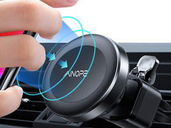 Go hands-free with this $5 Ainope magnetic phone car mount