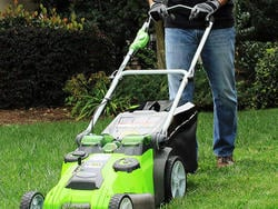 Now's your chance to get the best price on this Greenworks lawnmower