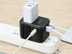 Stay charged while you travel with Epicka's universal USB-C adapter for $16