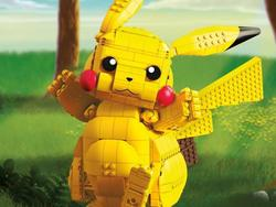 Piece together this Mega Construx jumbo Pikachu figure with $25 off