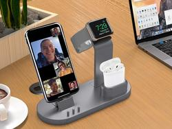 Charge your iPhone, Apple Watch, and AirPods at once with this $16 stand