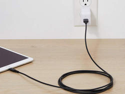 Give your phone some room with two six-foot AmazonBasics Lightning Cables