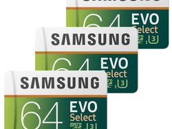 Save more with these discounted 64GB Samsung EVO Select microSD cards