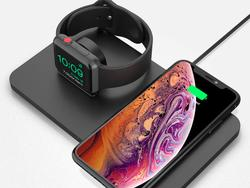 This wireless charging pad on sale for $20 has room for two iOS devices