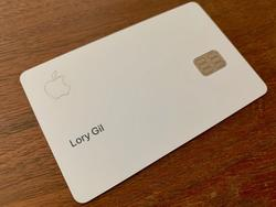 This is what the Apple Card looks like without the white coating