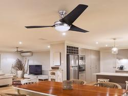 Enjoy the perks of having a ceiling fan and a light installed as a unit.