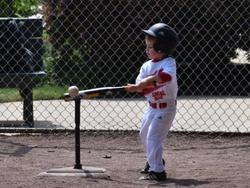 Perfect your swing mechanics with a batting tee