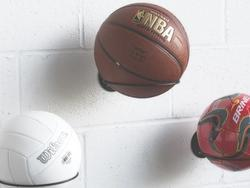 Keep your basketballs out of the way with these racks