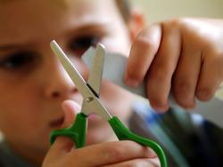 Teach your kids how to cut with child scissors