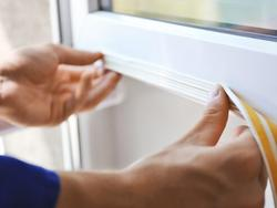 Seal any door or window from a draught with a good weather-strip tape