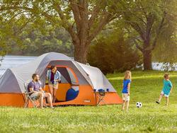 Stake your claim on your next camp out with a 5-person tent