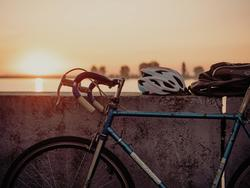 A bike helmet will keep you safe on those long bike rides!