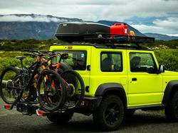 Store or travel with your bike when you use a rack!