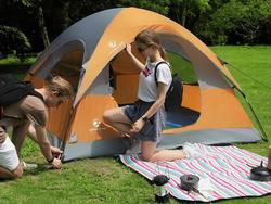 Bring a friend or two along with a 3-person camping tent