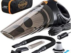 Never suffer crumbs on the floor again with a car vacuum