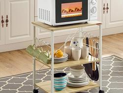 Add extra storage and counter space with a kitchen cart