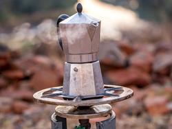 Get that caffeine boost even while you're camping, with a coffee maker