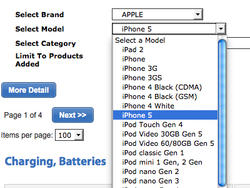 iPhone 5 Accessories Listed by AT&T Supplier, None for iPhone 4S