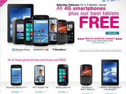 T-Mobile Announces Huge Valentine's Day Sale, 4G Phones for Free