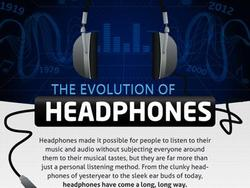 Headphones, Then and Now (infographic)