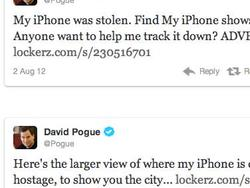 David Pogue's Phone Goes Missing, Twitterverse Rallies To Help Get It Back