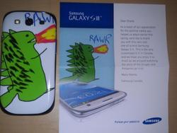 How One Samsung Fan Scored a Free Galaxy S III With a Drawing of a Dragon
