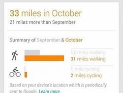 Google Now Will Now Track How Far You've Been Walking and Cycling