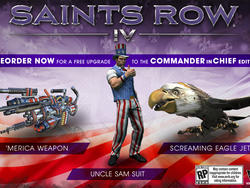 """Saints Row IV's Hilarious """"Commander in Chief"""" Edition Announced"""