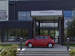 Fiat 500 Photobombs Volkswagen Office On Google Street View (Updated)
