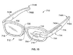 Google Patents Prescription Glass with Removable HUD Display