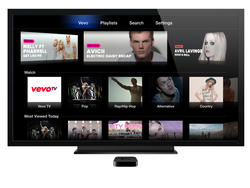 VEVO Launches on Apple TV with 24-Hour Music Video Stream