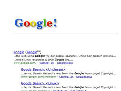 Google in 1998 Easter Egg Sends the Search Engine Back in Time 15 Years