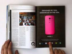 Interactive Moto X Print Ad Coming to Wired's Jan. Issue