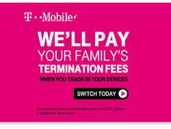 T-Mobile to Pay Termination Fees for New Subscribers, Leaked Ad Suggests