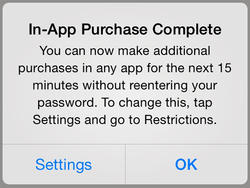 iOS 7.1 Comes With Warning Message for In-App Purchases