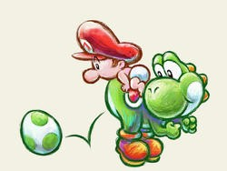 Yoshi used to look a little weird in his original Super Mario World design