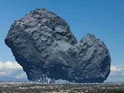 Rosetta Comet Is Scary Big Next To Major City