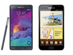 Flashback Friday: Galaxy Note vs Galaxy Note 4 Spec Shootout