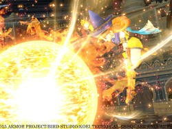 Dragon Quest Heroes Screenshots - Fiery Princess and Priestly Guard