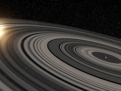 Astronomers Observe Planet Surrounded By Rings Much Larger Than Saturn's