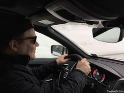 The 2015 Volvo XC60 R-Design laughs in the face of a Vermont snowstorm