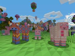 Minecraft on consoles gets bright, knitted texture pattern pack for 99 cents