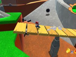 Super Mario 64's first level remastered in Unity, check it out