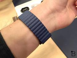 Apple Watch with modern buckle, leather loop, finally ready to ship
