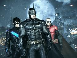 This Arkham Knight video with Batman and Nightwing fighting with Dual Play is outstanding