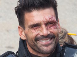 Check out Frank Grillo as Crossbones in Captain America: Civil War
