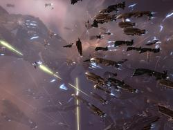 EVE Online teetering on the brink of its largest battle ever