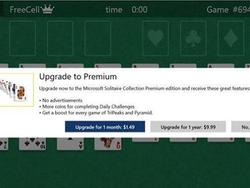 Solitaire thrown up behind a freemium paywall in Windows 10